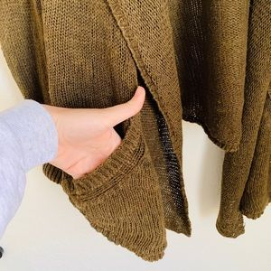 Anthropologie Sweaters - Anthropologie Olive Green Cardigan Sweater